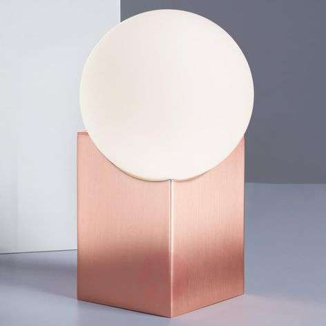 Cub bedside table lamp in copper