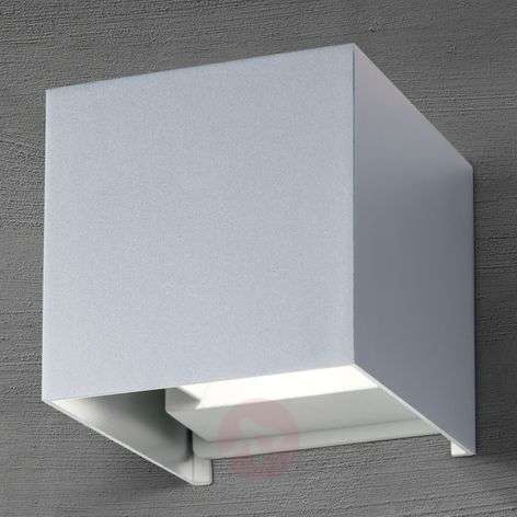 Cube LED outdoor wall light aluminium