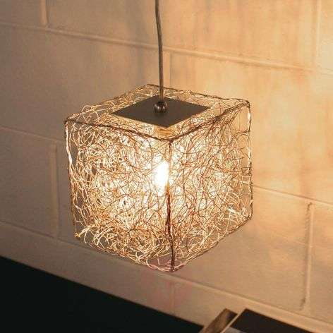 Cube-shaped hanging lamp Qubetto