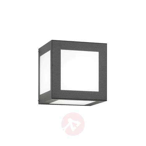 Cubo Cube-shaped Exterior Wall Lamp, Anthracite