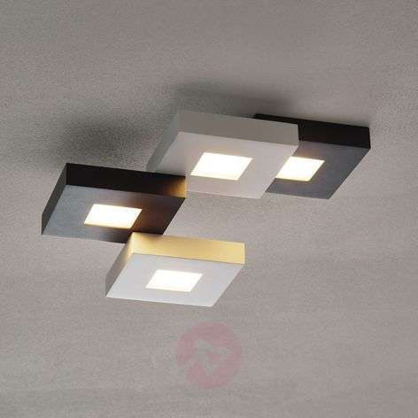 Cubus - LED ceiling lamp in black & white, 4-bulb.