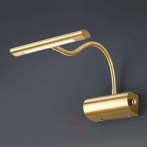 Curtis LED picture light with dimmer - matt brass