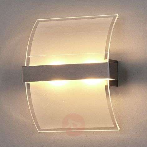 Curved glass Dina wall light - with switch