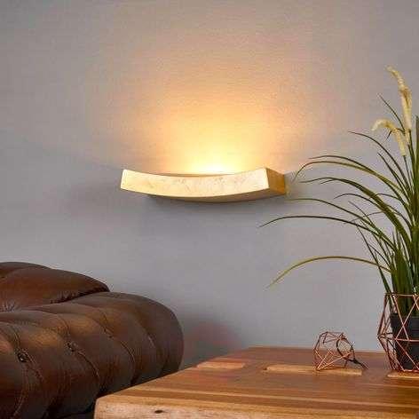 Curved golden wall lamp Berra