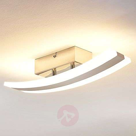 Curved LED ceiling lamp Duarte, acrylic