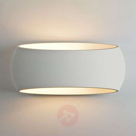 Customisable Aria wall lamp made of plaster