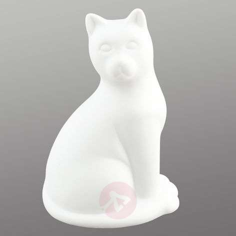 Cute ceramics table lamp Kitty with LED light