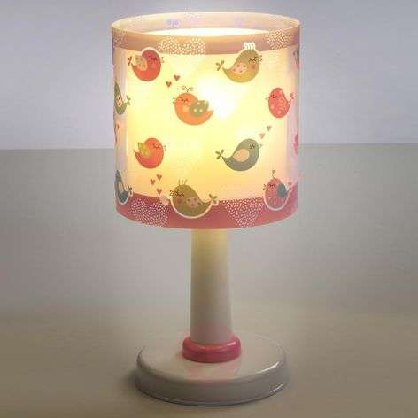 Cute children's room table lamp Birds