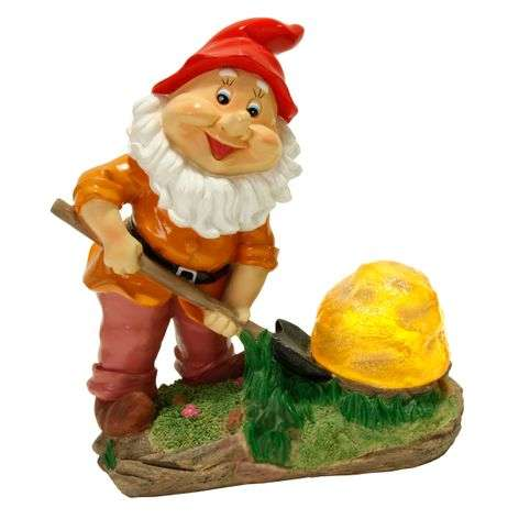 Cute Garden gnome with solar technology-1522328-31