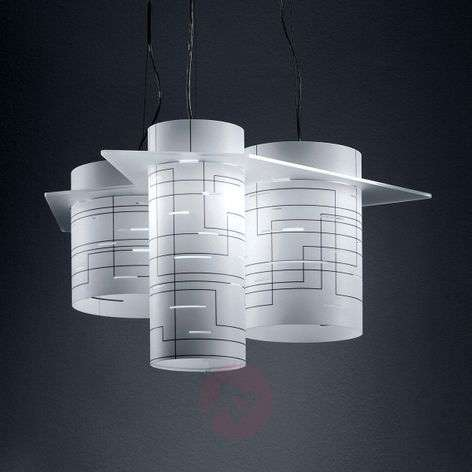 Cylindrical hanging light Brothers, white