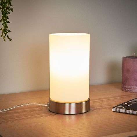 Cylindrical LED table lamp Levka made of glass-9970138-32