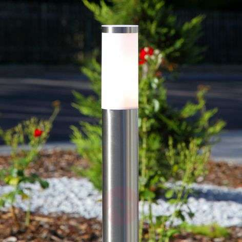 Cylindrical path lamp Kristof, stainless steel