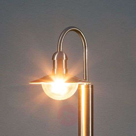 Damion Curved Stainless Steel Path Lamp
