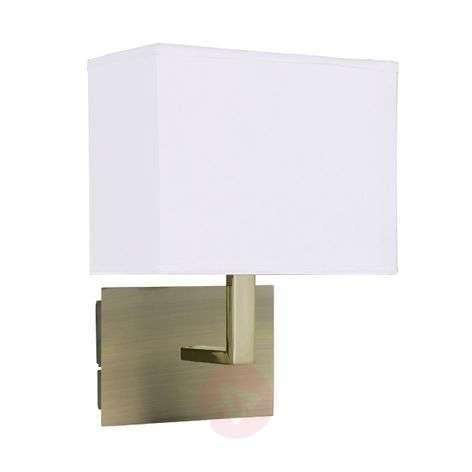 DARIO wall light with fabric lampshade