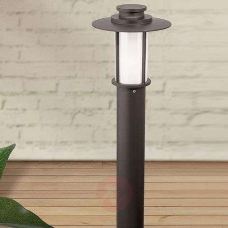 Dark brown, die-cast aluminium Putri path light