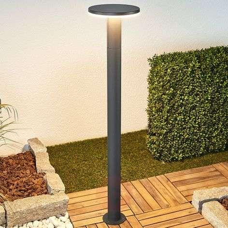 Dark grey LED bollard light Olesia