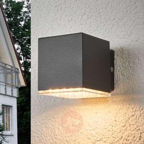 Dark grey LED outdoor wall lamp Lydia