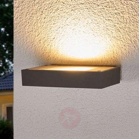 Dark grey LED wall uplighter Finja for outdoors