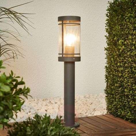 Dark grey stainless steel Djori pillar lamp