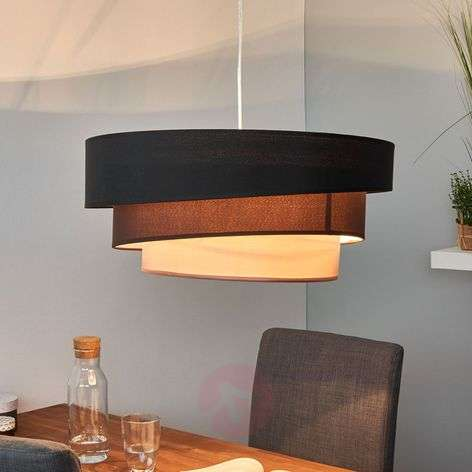 Dark pendant lamp Melia in black and brown-9639032-32