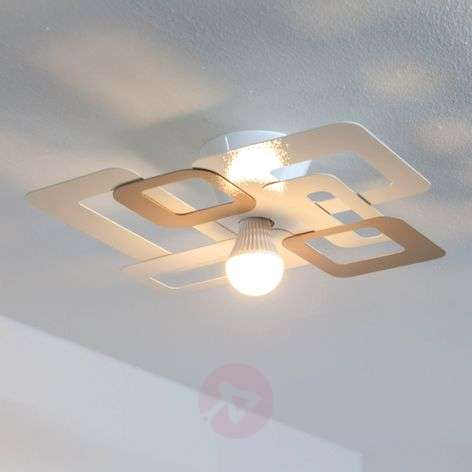Decorative ceiling lamp Kuadra, cream brown