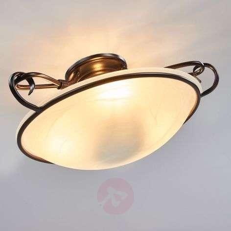 Decorative Como ceiling light, antique rust colour