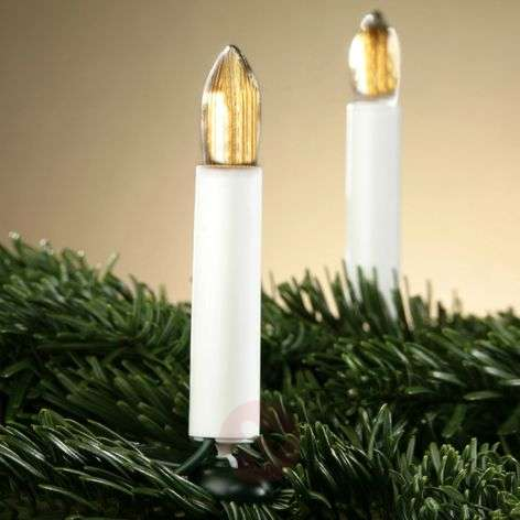 Decorative fluted candle string lights