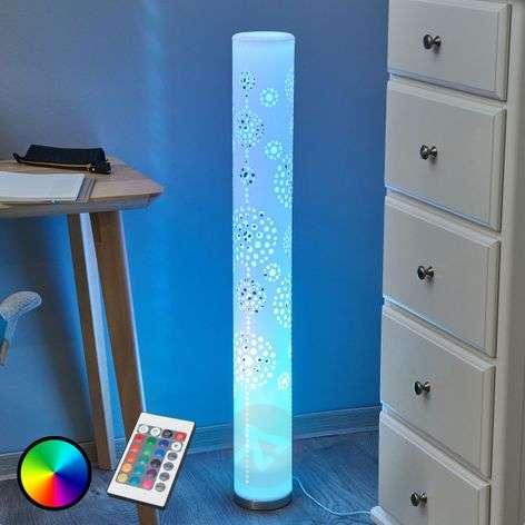 Decorative LED floor lamp Mirella, RGB with remote