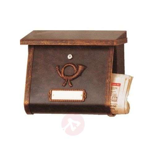 Decorative letterbox MULPI brown-gold patinated