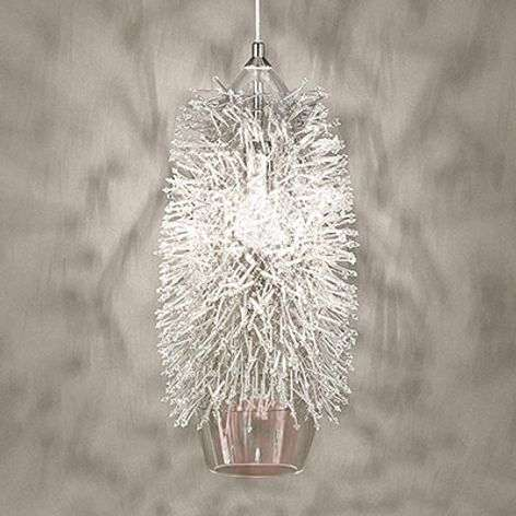 Decorative Sea Urchin hanging light with crystals