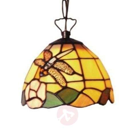 Decorative Tiffany-style hanging light LIBELLE-1032066-31