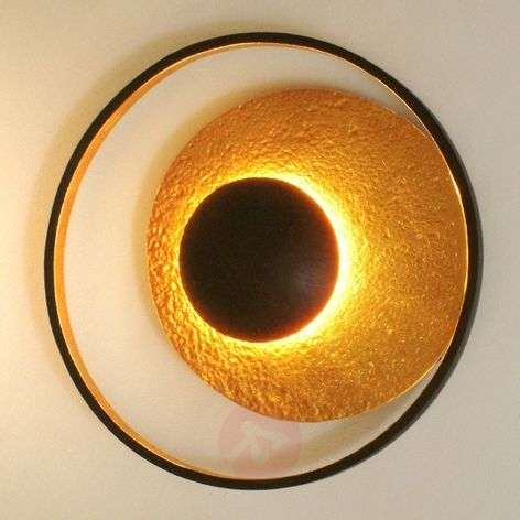 Decorative wall lamp SATELLITE in gold-brown