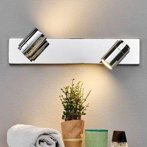 Dejan bathroom wall light in chrome, two bulbs