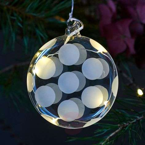 Delicate LED glass bauble Polka-8577247-31