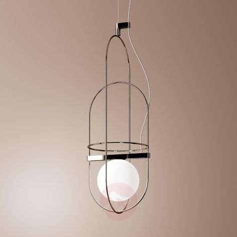 Delicate LED hanging light Setareh in chrome
