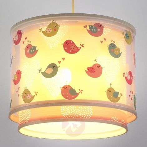 Delightful children's room pendant light Birds