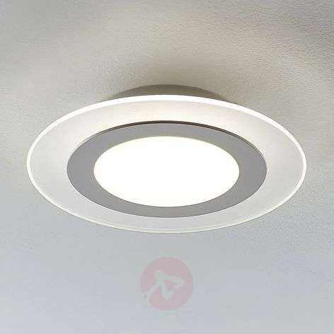 Derik LED ceiling lamp, round cool white dimmable