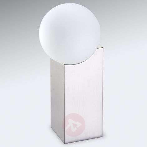 Design-oriented table lamp Cub, matt nickel
