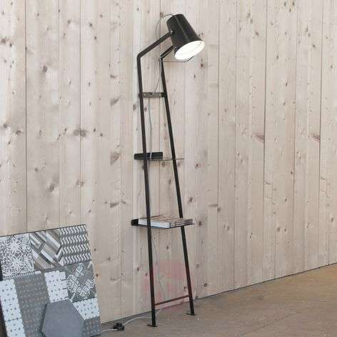 Designer floor lamp Alfred with storage space