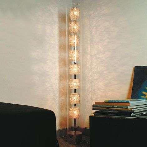 Designer floor lamp Kubini in tube shape