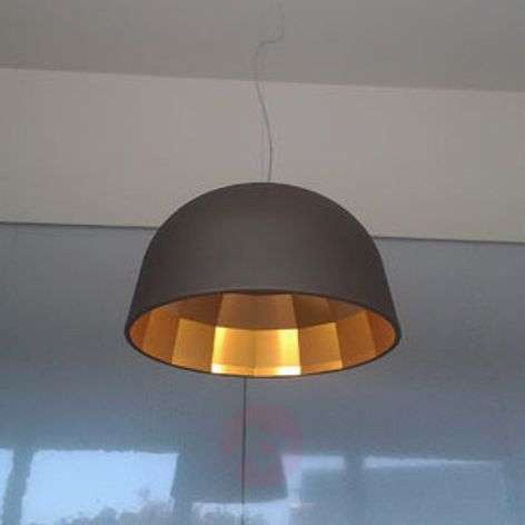 Designer LED hanging light Empty in brown
