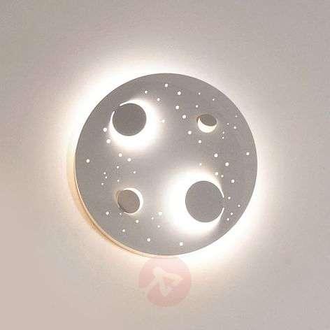 Designer LED wall light Buchi in white