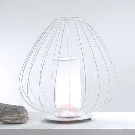 Designer table lamp Cell in a cage shape