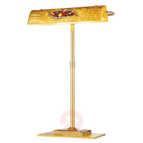 Desk lamp Bankers Kiss in gold, LED