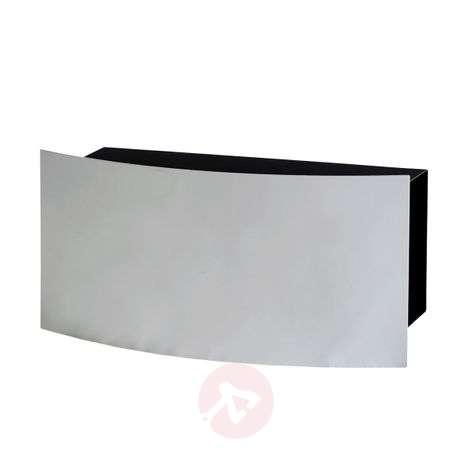Dessau - newspaper compartment white aluminium