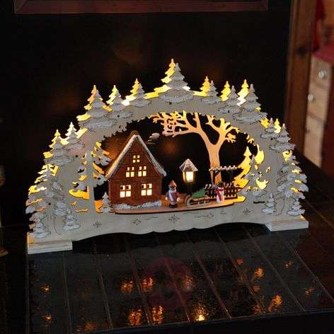 Detailed candle arch Village - LEDs