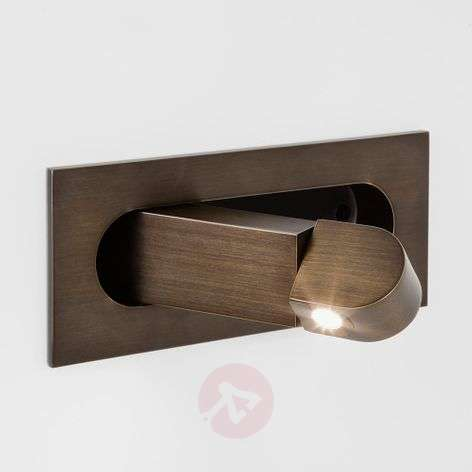 Digit LED Wall Light with Reading Arm Bronzed-1020478-33