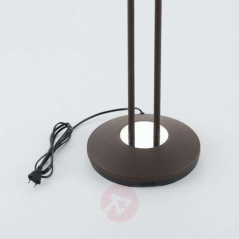 Dimitra LED uplighter, reading lamp, rust-coloured