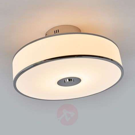 Dimmable LED ceiling lamp Lounge in white/chrome