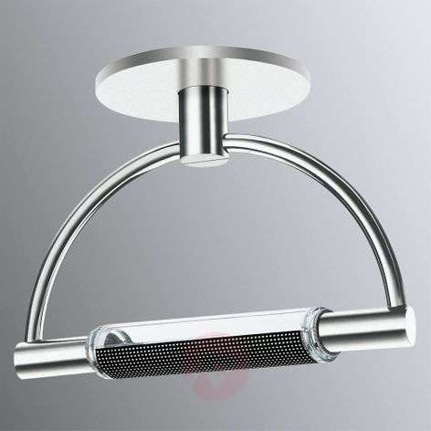 Dimmable LED ceiling light Gradi, chrome finish